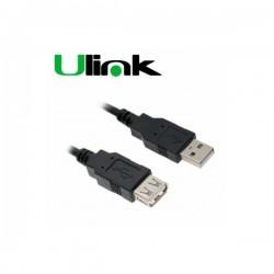 Cable USB 2.0 M/H Extensión 1.8mt Ulink