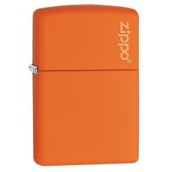 Encendedor Zippo Orange Matte With Logo