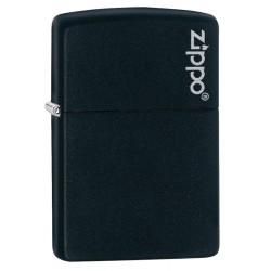 Encendedor Zippo Classic Black Matte with Logo