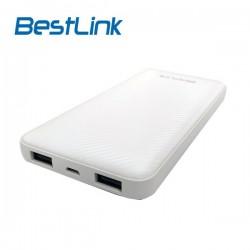 Power Bank 10.000mah 2 Puertos USB 2,1A Blanco