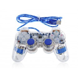 Joystick PC USB Transparente Azul