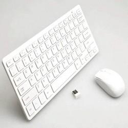 Combo Mini Teclado y Mouse Inalámbrico 2.4G Blanco