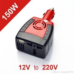 Inversor Voltaje 150w 12v 220v Encendedor USB