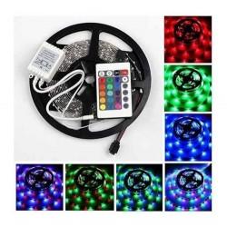 Cinta De 150 Led RGB Multiuso, Control Remoto 5mts Multicolor