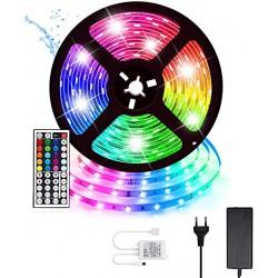 Cinta De 300 Led 5050RGB Multiuso, Control Remoto 5mts Multicolor