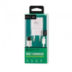 Cargador Celular Micro USB Qihang Z03 Quick Charge 3.0