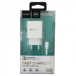 Cargador Celular Micro USB Qihang Z06 Quick Charge 3.0