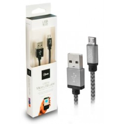 Cable USB a Micro USB 1M Mlab Gris