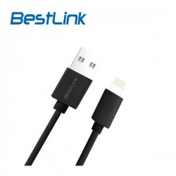Cable USB a Lightning 2.4A iPhone BestLink Negro