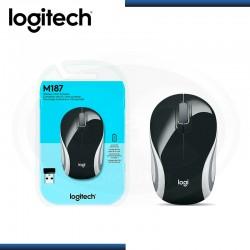 Mini Mouse Logitech M187 Óptico, Inalámbrico
