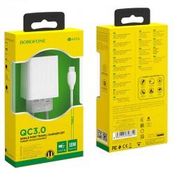 Cargador Celular Tipo C Borofone A47A Quick Charge 3.0