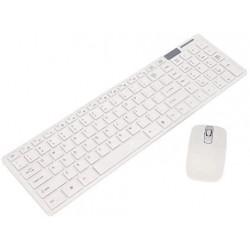 Combo Teclado y Mouse Inalámbrico 2.4g Mod. K06 Blanco