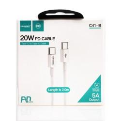 Cable USB Tipo C a Tipo C 5A 2m QIHANG C41-B Carga Rapida