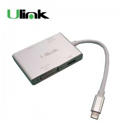 Adaptador Multipuerto USB a Tipo C ( USB 3.0 , HDMI ,DVI, VGA ) UL-ADC1040