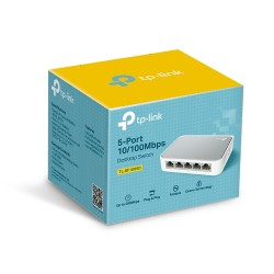 Switch TP-Link con 5 puertos a 10/100 Mbps