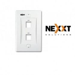 Faceplate Placa Pared Nexxt Conector Rj45 2 Puerto