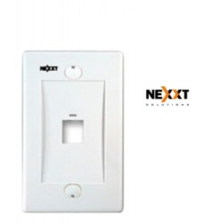 Faceplate Placa Pared Nexxt Conector Rj45 1 Puerto