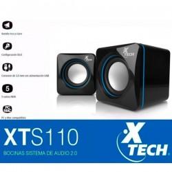 Mini Parlantes USB Estéreo Xtech XTS-110