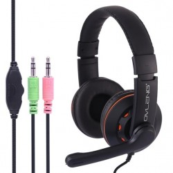 Audífono Con Micrófono Gamer Pc Super Bass  Ovleng X5